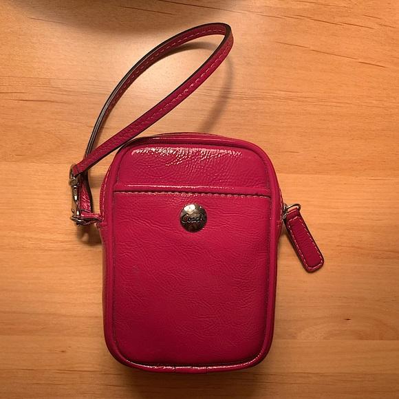 Small Pink Coach Wristlet
